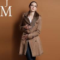 Jm fur one piece women's outerwear genuine leather fur clothing medium-long fashion slim berber fleece overcoat 5810