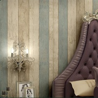 Wood Stripe Wallpaper for Walls Fashion Wallpapers modern mediterranean style vertical wall paper papel de parede tapete bedroom