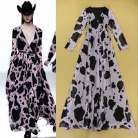 2014 fashion milk sploshes Purple sexy V-neck elegant expansion bottom formal dress Full dress one-piece dress