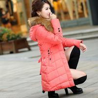 2014 thickening medium-long slim elegant down coat female
