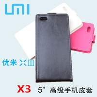 High quality umi  x3 mobile phone case umi 5.5 faux leather phone case free shipping