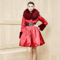 2014 High-end Fashion Women's Luxury Large Fur Down Coat  Dress Winter Warm Parkas Plus Size F16393