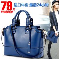 Cowhide genuine leather women's bags 2014 trend handbag cross-body women's handbag vintage work bag