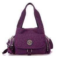 Fashion one shoulder women's handbag candy color light waterproof nylon cloth multi-pocket handbag messenger bag
