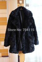 2014 plush large lapel fur coat warm and thick