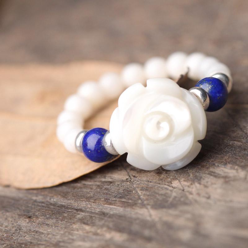 Ring female fashion antipathes water white shellfish national trend handmade decoration accessories(China (Mainland))