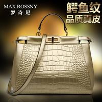 2014 for Crocodile women's genuine leather handbag leather bag messenger bag handbag female shoulder bag