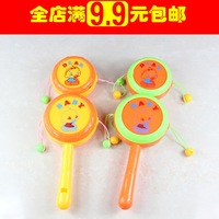 Baby rattle baby infant children double slider wave drum whisted belt