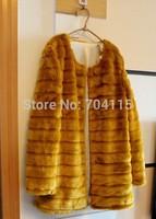 Fashion 2014 Long Faux Fur Coat Six Color