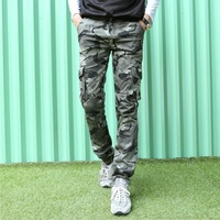 New arrival hot sale 2014 Men's clothing camouflage fashion casual slim men pants Military field camouflage pants 28-34