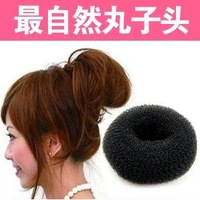 yp024 wholesale 12PCS Ladies' Headwear Tool  Big Black Soft Hair Bun Ring Donut Forner Styling Style Design Salon Tool
