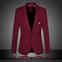 Mens Blazer 2014 New Arrival Autumn Suits Jacket For Men Solid Color Blazer Men Fashion Slim Fit Man Jacket  Plus Size 5XL 6XL