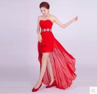 low-high slim formal dress long design evening dress HLH1409281