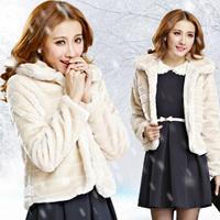 Fast/Free Shipping New 2014 Autumn&Winter Faux Fur Coat Casual Slim Short Women Coat Fashion Ladies Overcoat B8909