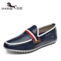 Summer new arrival Men Moccasins genuine leather breathable shoes sailing shoes lazy