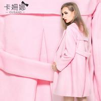 Card suzanne 2014 autumn outerwear woolen outerwear elegant woolen medium-long women's outerwear 0016