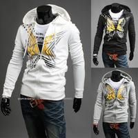 The new 2014 tide male star printing hooded fleece Hoodies and Sweatshirts