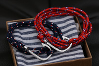 new lovers miansai silver hook hand-rope bracelets couples 2pcs Free shipping
