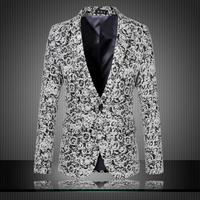 2014 New Arrival Fashion Blazer Men Woolen Jacquard Men Blazer Slim Fit Casual Suit Jacket High Quality Blazer Plus Size 5XL 6XL