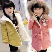 Free shipping  winter child outerwear kids girls plus velet coat wholesale winter baby girl Thicken jacket
