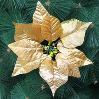 20CM silver gold Christmas tree decoration flower high quality Xmas flower decoration artificial poinsettia flower