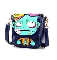 candy color block women's handbag fashion Zombie cartoon print Single shoulder cross-body Messenger bag small doodle bag