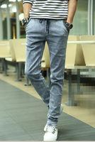 Super hot-selling skinny jeans men pants slim elastic men's pencil pants denim drawstring pants 28-34 free shipping