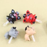 Pirate pig dust plug cartoon stereo animal plug earphones