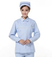 Nurse Clothing Set Winter Long Sleeve ICU Beauty Work Wear Medical Nurse Clothing Including Pants Together Free Shipping M416