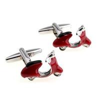 Blue red motorcycle style cufflinks, men's shirt cufflinks, Valentine's gift, wholesale