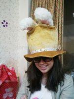 Christmas series rabbit ear hats three-color free shipping