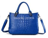 Free Shipping New women handbag fashion brief crocodile pattern shoulder bags women messenger bags women leather handbags