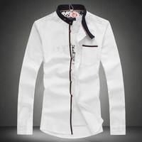 2014 fashion new Chinese style long-sleeve mens shirt plus size