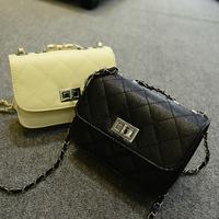 Chain 2014 plaid cross-body bag mini bag women's handbag small sachet messenger bag