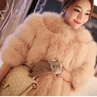 Fashion luxury full leather fox fur coat short design female fur coat 2014