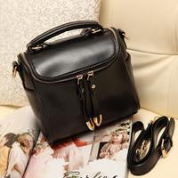 Women's handbag 2014 bucket bag genuine leather casual fashion candy color small bags messenger bag