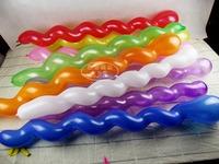 100 pcs/ lot Spiral balloon screw balloon twisted balloon ktv decoration balloon