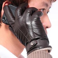 2014 Winter Genuine Leather Gloves Male Winter Gloves Men's Gloves