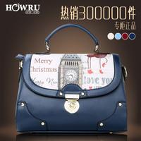 Women's bags 2014 trend messenger bag handbag fashion print autumn and winter women's handbag