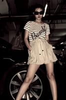 Mfhk - patchwork one-piece dress