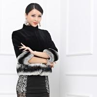 Luxury elegant bunny totoro rex rabbit hair fur coat fur 2014