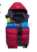 2014 MEN duck down vest coat  winter thickening sports wadded jacket vest coat   for men  size:S-XL