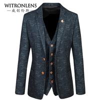 Male male slim suit blazer jacket men's clothing commercial suit collar upperwear
