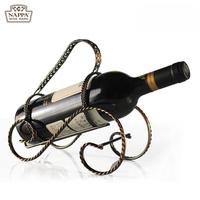 Fashion Simplicity Scottish Flavor Wine Rack Holder Bronze Color Wine Decoration European Style