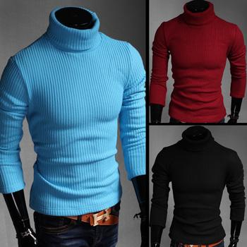 Нет прибыли 2014 мужчины зима водолазка пуловер тепловая свитер нескольких вариант цвета твердотельные мягкий и теплый