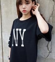 2014 summer street ny loose batwing sleeve short design women's short-sleeve T-shirt female