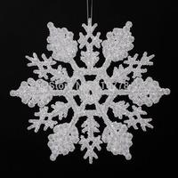 10cm Christmas snowflakes acrylic snow flowers christmas tree decoration hanging drop