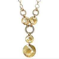 For nec  klace fashion all-match long design crystal necklace austria crystal pendant necklace