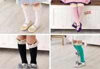 Children's clothing spring and autumn child 100% cotton short socks princess socks baby knee-high socks female (3-8years old)