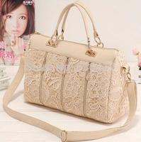 New 2014 spring female bags fashion vintage lace bag shoulder bag handbag women messenger bag ,free shipping